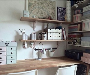 design, desk, and organised image