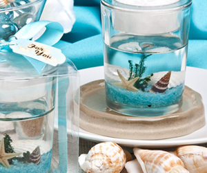 candle, beach, and candle favors image