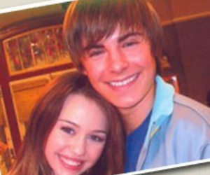miley cyrus, zac efron, and friends image