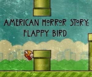 flappy bird, american horror story, and horror image