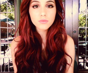 ariana grande and red hair image