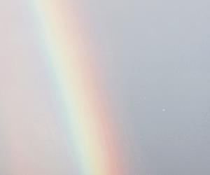 rainbow, end, and sky image