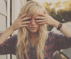 blond, cool, and girl image