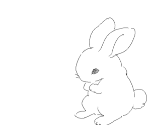 art, black ink, and bunny image