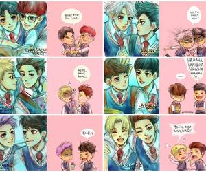 exo, exofanart, and kpop image