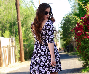 babydoll dress, baby doll dress, and vintage sunglasses image