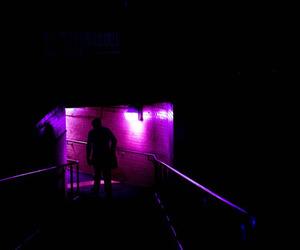 glow, grunge, and purple image