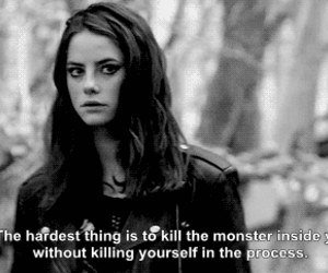 skins, black and white, and Effy image