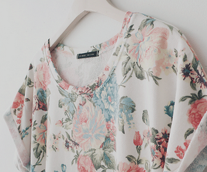 fashion, flowers, and shirt image