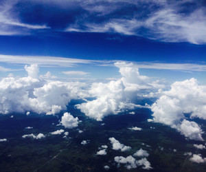 clouds, country, and flight image