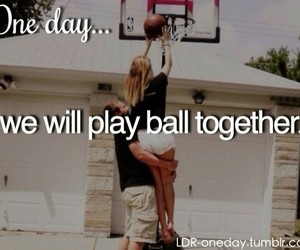 Basketball, couple, and lovers image