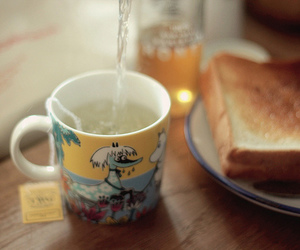 breakfast, tea, and cup image