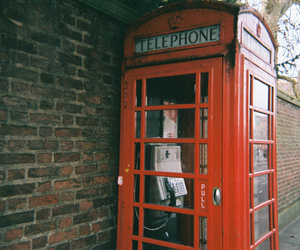 telephone, london, and red image