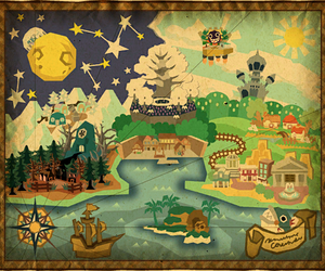 map, super mario bros., and paper mario image