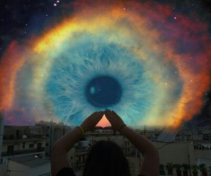 colors, eye, and galaxy image