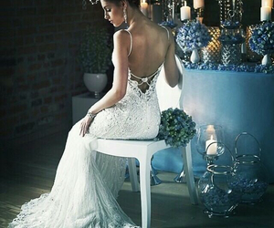 bride, candles, and elegant image