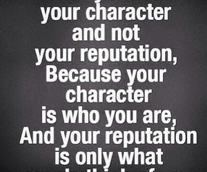 character, quote, and Reputation image