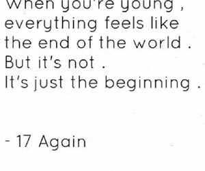 quote, 17 again, and young image