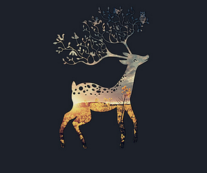 wallpaper, animal, and deer image