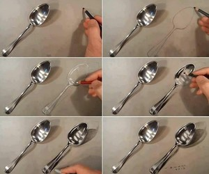 draw, spoon, and drawing image
