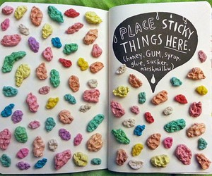 gum, wreck this journal, and book image