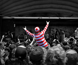 concert, Waldo, and black and white image