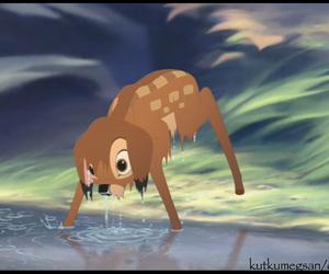 bambi, disney, and wet image