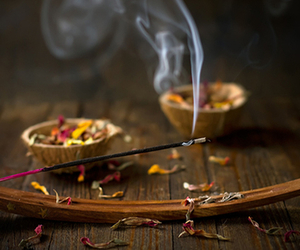 flowers, incense, and indie image