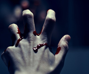 blood and hand image