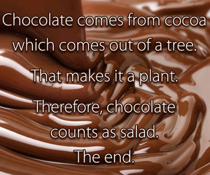 chocolate, salad, and funny image