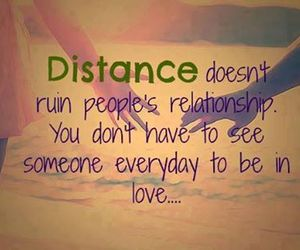 distance, quotes, and Relationship image