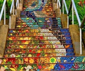 colors, stairs, and style image