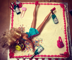 barbie, best friends, and birthday cake image