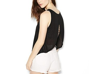 black, tank, and top image