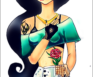 disney, jasmine, and punk image