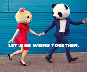 weird, couple, and love image