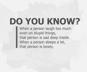 sad, laugh, and quotes image