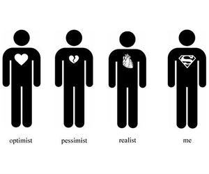 me, optimist, and realist image