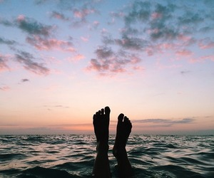 summer, sunset, and sea image