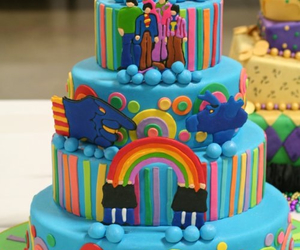 cake, beatles, and the beatles image