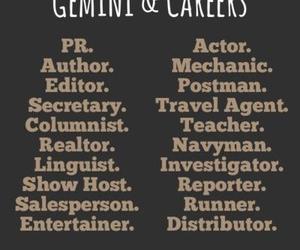 gemini, career, and zodiac image