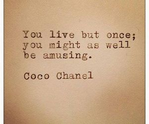quote, coco chanel, and life image