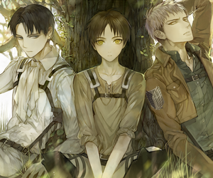 jean, levi, and attack on titan image