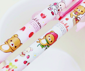 kawaii, pen, and rilakkuma image