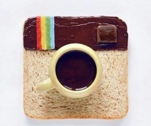 instagram, bread, and breakfast image