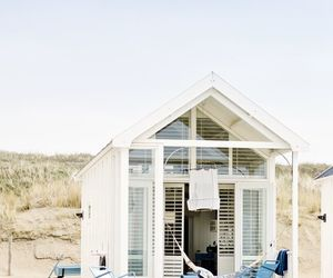 beach, house, and summer image