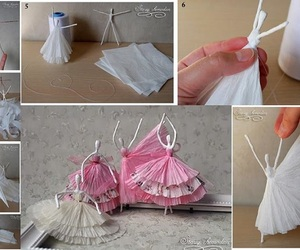ballerina, napkin, and craft image