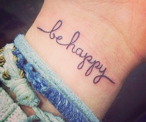 happy, tattoo, and be happy image
