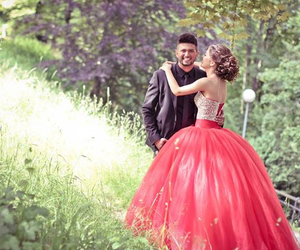 bride, dress, and red image