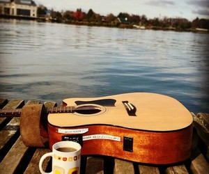 coffe, guitar, and hipster image